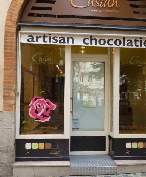 Rose et chocolats