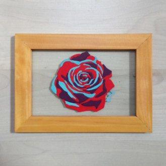 Audrey rouge et bleu