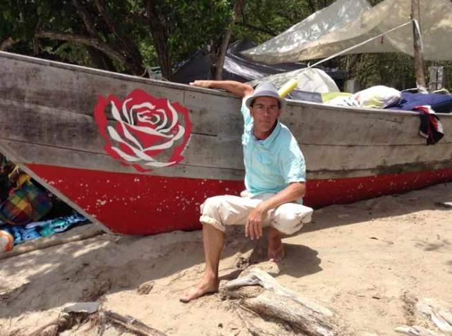 La dernière rose du périple antillais, prés de Sainte Luce
