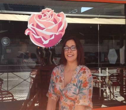 Caroline soutient et participe à Octobre Rose